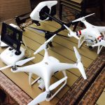 drones on table for uav training